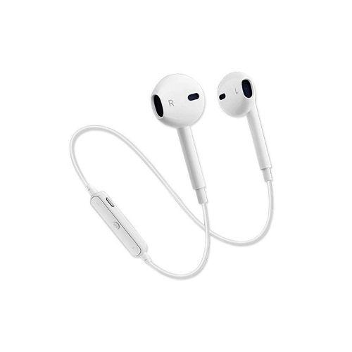 S6 Mini Headset High Sound Effect Music Wireless Sports Earphones White