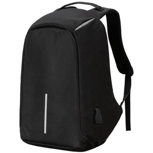 Anti Theft Security Travel Backpack & Laptop Bag With USB Charging Port - Black
