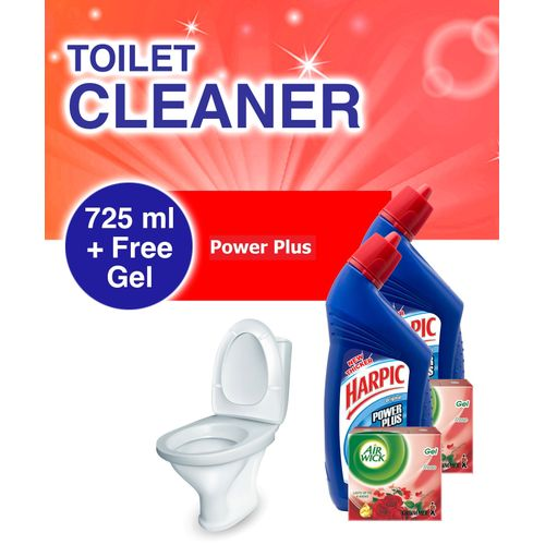 Toilet Cleaner: Power Plus 725ml + 2 FREE AirWick Gel Pack