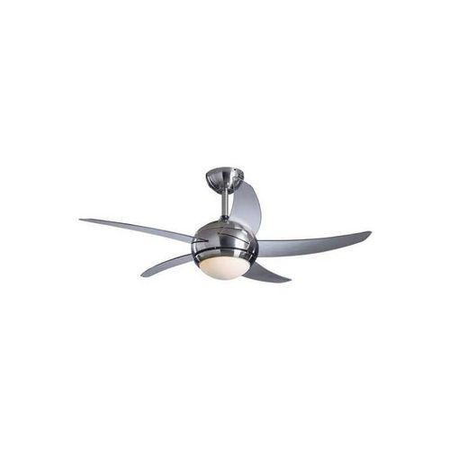 Home Manhattan Remote Control Ceiling Fan - Satin Nickel