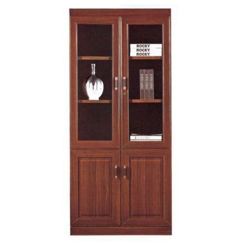 NEW Modern Glass Doors Book Shelf CLASSY