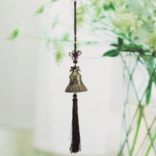 Chinese Wind Chime Peacock Single Bell Lucky Feng Shui Hanging Garden Decor