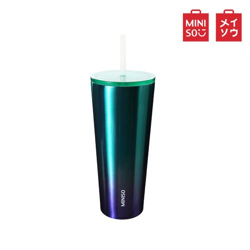 MINISO Reusable Unbreakable Drink Ice Cup Mug-Green
