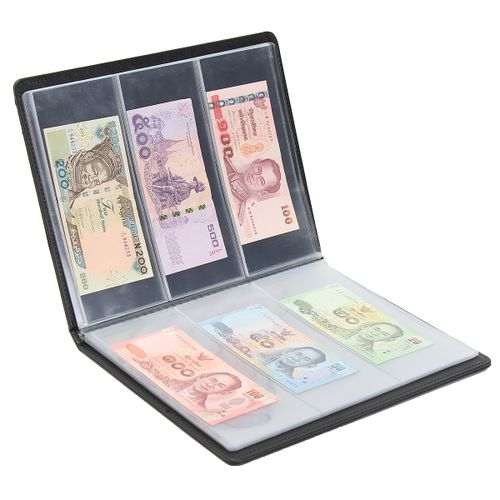 60 Paper Money Note Holders Collection Pockets Album Book