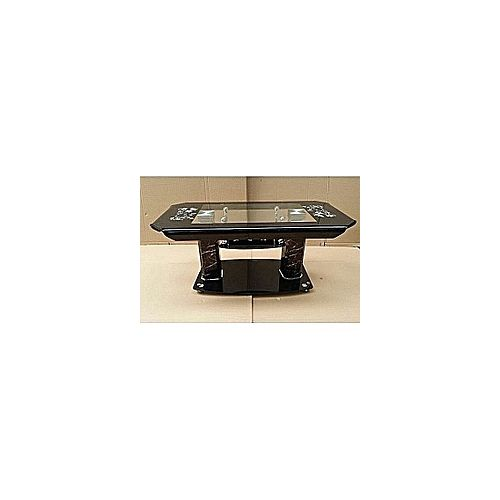 Doubled Glass Curve Center Coffee Table