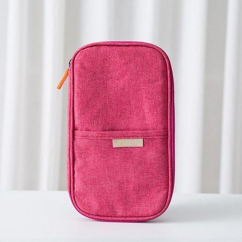Travel Passport Storage Bag Wallet Multifunction Credit Card Package Organizer Rose