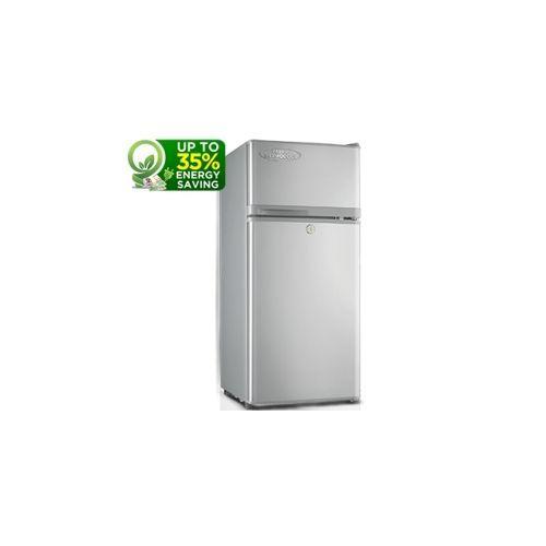 80-Litres Double Door Refrigerator HRF 80AEX- Silver