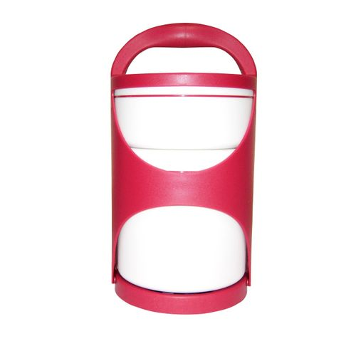 Thermo Lunch Box Food Flask - White & Red