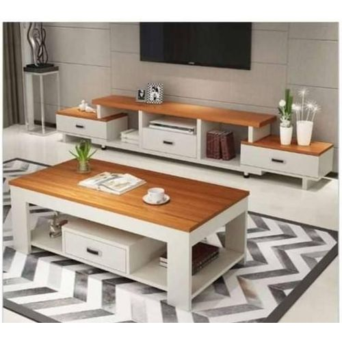 Elegant Television Stand + Center Table Kelstones Style [lagos And Ogun Only] Prepiad Only