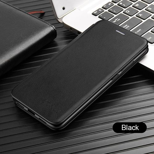 Magnetic Leather Flip Case On The Of For Iphone I Phone 6 X S XS 11 Pro Max XR 6S 8 7 Plus Card Cover Holder Stand Case(#black) YUA