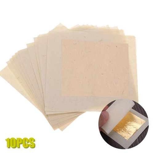3PCS 24K 10 Sheets Imitation Pure Gold Leaf Foil Paper Gilding Art Craft