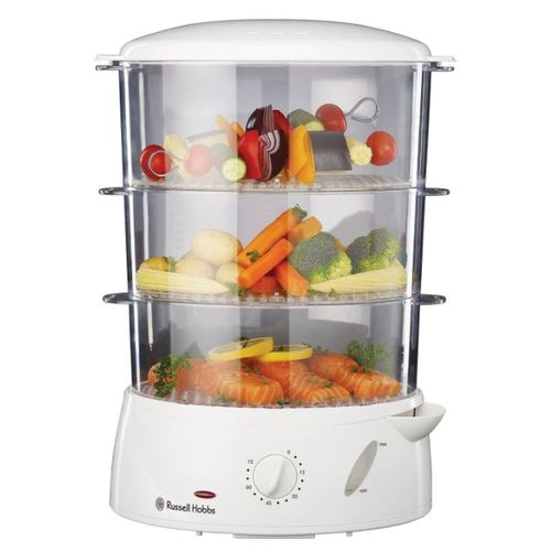 3-Tier White Food Steamer - 9L