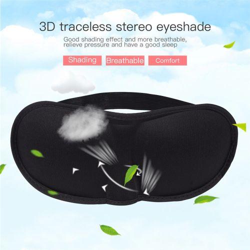 3D Soft Sleep Mask Breathability Eye Mask Eyeshade Rest Travel Sleeping Aid For Men And Women