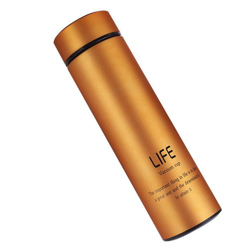 LIFE Vacuum Cup Stainless Steel Water Bottle - Gold