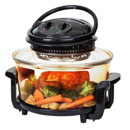 17 Litre Black Premium Convection Halogen Oven Cooker