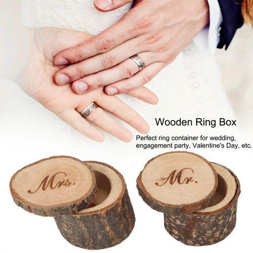 Cosmetic Organizer 2Pcs Retro Wedding Ring Box Container Unique Ring Jewelry Holder Storage Case Plastic