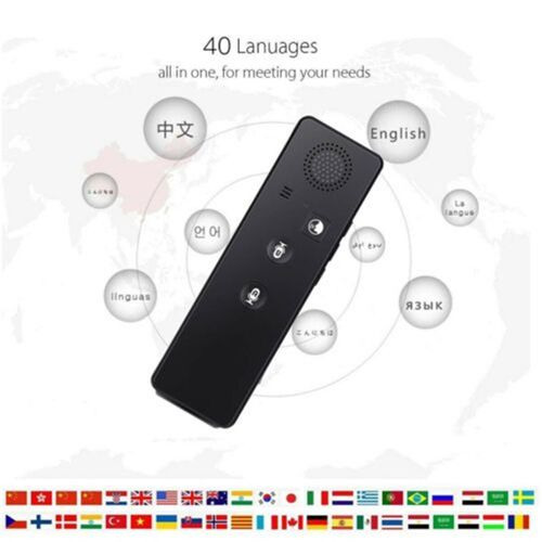 New Portable A1 Two-Way Smart Translator Real Time 40 Multi-Language Instant Voice Translator QLANG