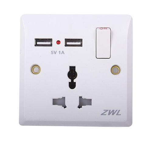 Dual USB Port Wall Charger Adapter EU Plug Sockets Power