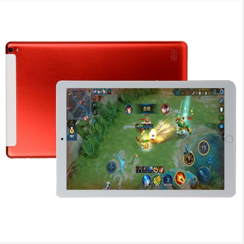Pad Tablet PC 10.1'' 64G Android 8.0 Octa 10 Core HD WIFI Dual SIM Card-Red
