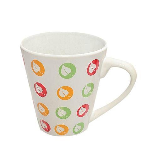 Leaf Design Mug - Orange/Green