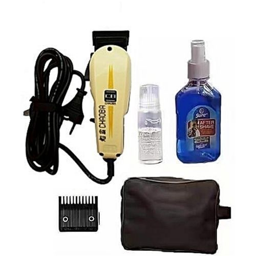 Hair Clipper With Bag And Aftershave Complete Accessories