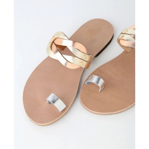 Skyros Multi Metallic Slide Slippers - Multicolour