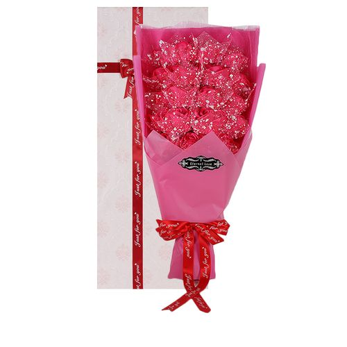 Rose Artificail Flower Eternal Love Gift - Gold