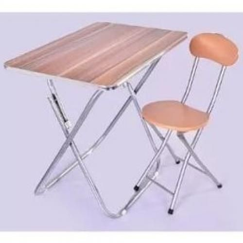 Adjustable Foldable Table And Chair - Wooden