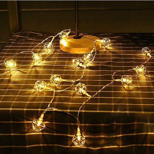 KCASA 10 LED Metal Polygon String Lights LED Fairy Lights For Festival Christmas Decoration