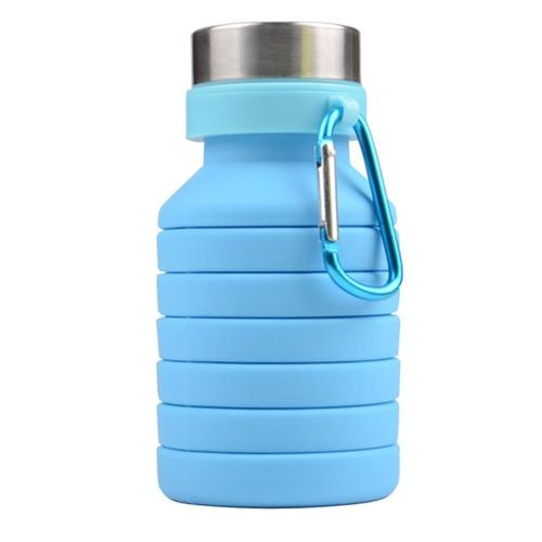 550ML Collapsible Silicone Sports Cup With Hanging Hook For Outdoor Use