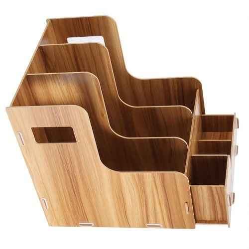 Supordu Multiple Layers A4 Magazine Book File Folder Organizer File Sorter Office Home Desk Storage Box