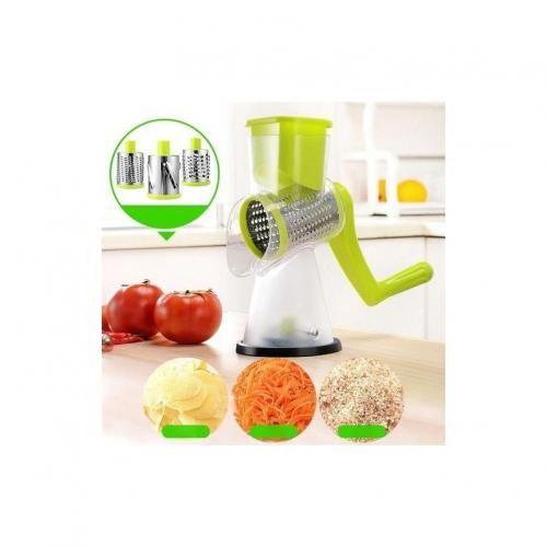 Grater For Vegetables Multifunctional Manual Vegetable Cutter Slicer Peeler Shredder Chopper Kitchen Gadgets Roller Mandoline(Light Green)