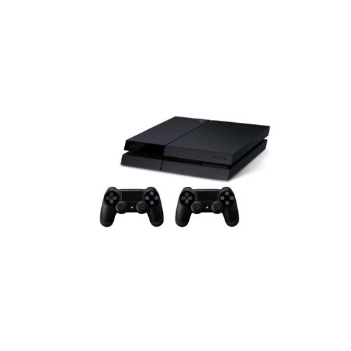 Play Station 4 - 500GB Console Black Plus 2 Control Pads