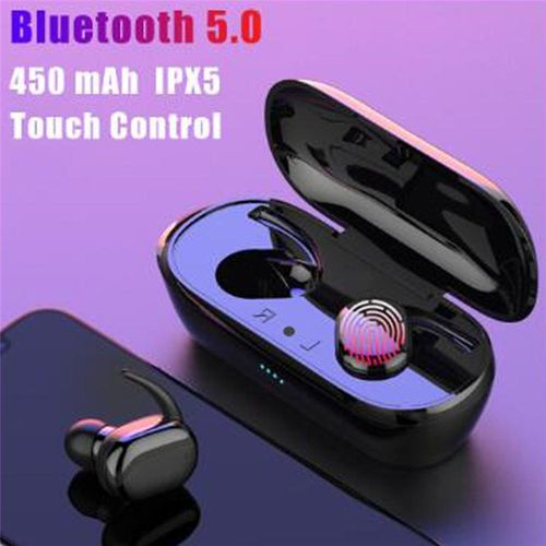 Headphones Bluetooth 5.0 Wireless Earphones Fingerprint Touch Sports Earphone