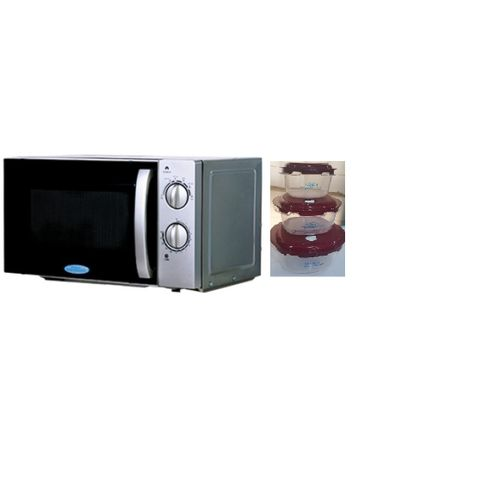 Microwave Oven Manual- 20L With Free Oven Bowls