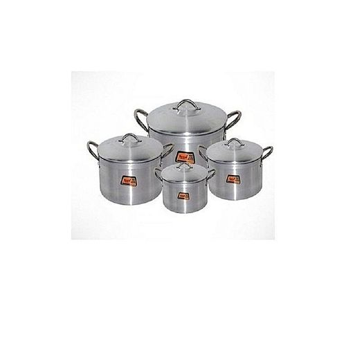 Tower Cooking Pot Set 4 Pieces - Silver (Tower Trim) 16, 18, 20 And 22cm