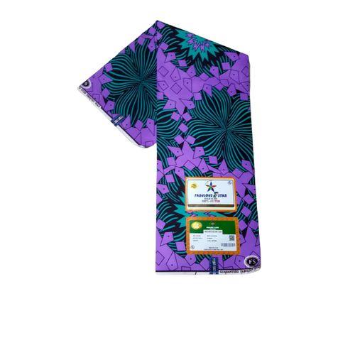 Star Ankara Fabric Material - Purple