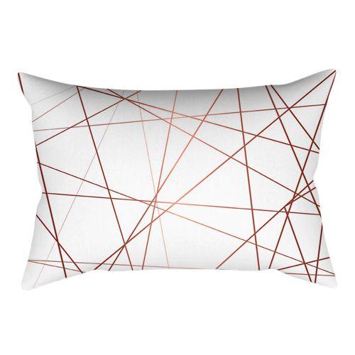 Fashion Rose Gold Pink Cushion Cover Square Pillowcase Home Decoration(30cm * 50cm)