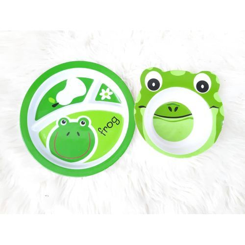 Children Frog Character Plate Set-Set Of 3