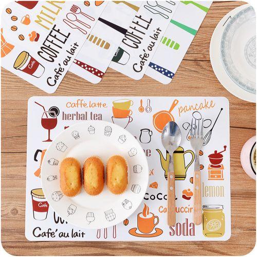 Watermalend European Printing Western Table Mat PP Plastic Anti - Hot Insulation Pad B