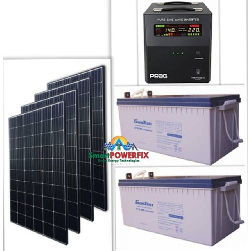 Solar Powered 2.5kva Inverter With 2 Rugged 200ah Batteries