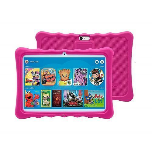 """K11 Kids Tablet-Dual Sim-10.1"""" -1GB RAM-16GB ROM Plus Free Pouch Inside And Gifts - Pink Pouch"""