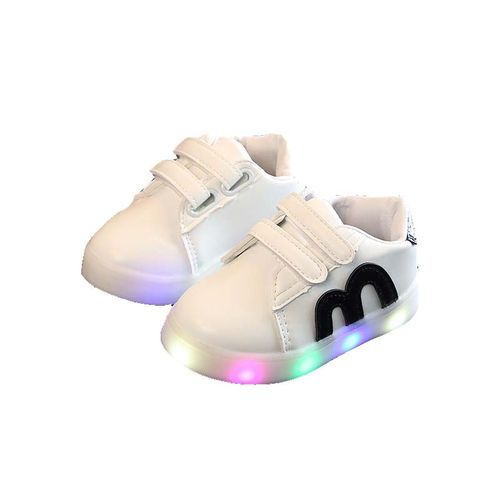 Children Shoes Girls Boys Lightening Sport Shoes Anti-slip Soft Bottom Kids Baby Casual Flat Sneakers