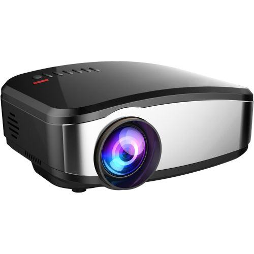 CLAITE C6 Projector LED 1200 Lumens 800x480 HD Support 720p 1080p Home Theater Projector With Screen For HDMI/USB/VGA(PC)
