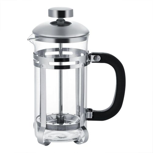 350ml Stainless Steel Glass Cafetiere French Filter Tea Coffee Pot Press Plunger
