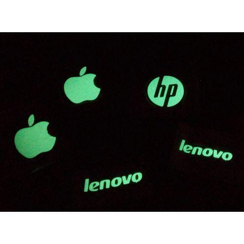 2 Pcs Glowing Laptop Logo Stickers