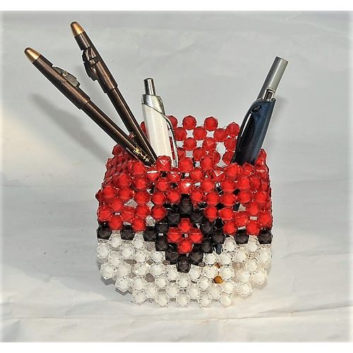 Beaded Comb Or Pen Cups