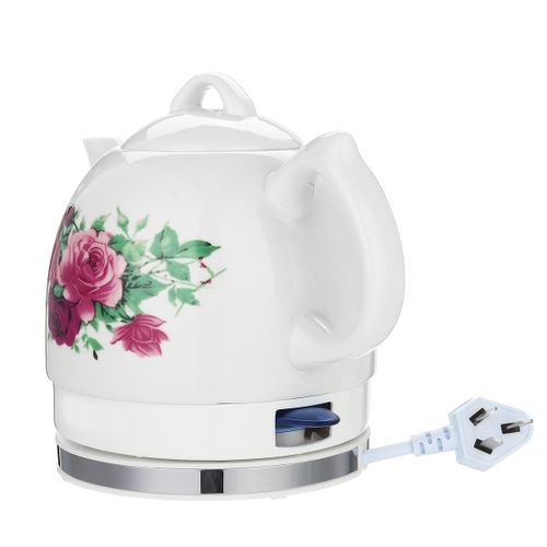 1.2L Ceramic Electric Country Rose Cottage Kettle Retro Vintage Tea Pot