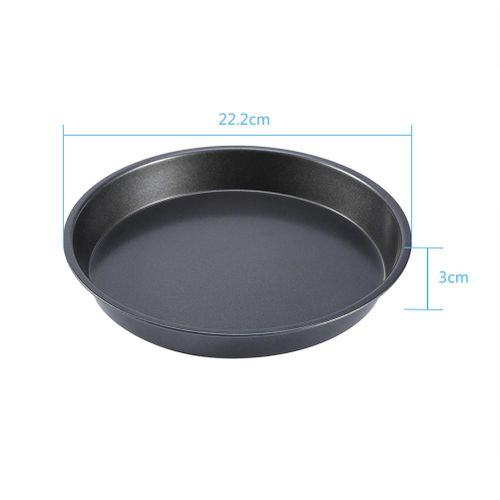 8 Inch Carbon Steel Non-stick Pizza Pan Microwave Oven Pie Baking Dishes Pans - Intl
