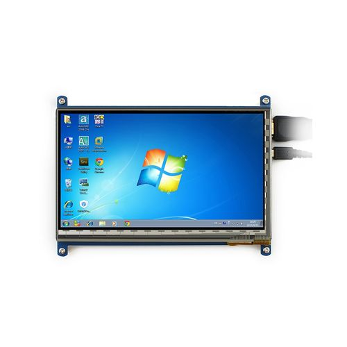 7 Inch Capacitive Touch Screen LCD(C) 1024*600 HDMI Interface Display Shield Panel Supports Raspberry Pi/BB BLACK/PC/Various Systems/Raspberry Pi 3 Model B